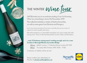 Lidl Christmas Wine Tour - Press Preview @ MIMO London, 1 Cathedral Street, Borough Market London